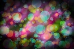 Positieve abstracte achtergrond met kleurrijke bokeh Royalty-vrije Stock Foto