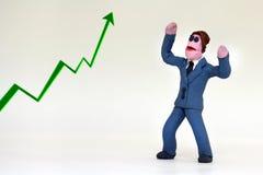 Positieve bedrijfsmens Stock Afbeeldingen