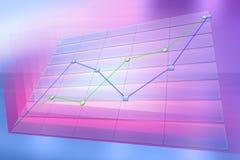 Positieve bedrijfstendensgrafiek Stock Foto's