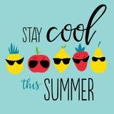 Positieve de zomeraffiche Stock Afbeelding