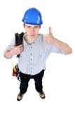 Positieve elektricien Stock Fotografie
