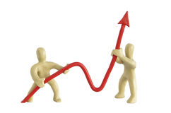 Positieve grafiek Royalty-vrije Stock Afbeelding
