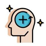 Positieve het Denken LineColor illustratie stock illustratie