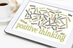 Positieve het denken woordwolk Stock Afbeelding