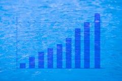 Positieve het verdienen grafiek Stock Afbeelding