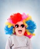 Positieve kleine clown Stock Foto's