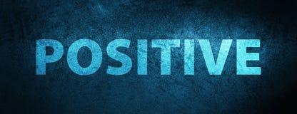 Positieve speciale blauwe bannerachtergrond Stock Foto's