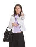 Positieve vrouw Stock Foto