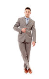 Positieve zakenman met gekruiste benen Stock Afbeelding