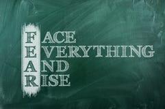 Positif d'acronymes de crainte Photo stock
