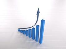 Positif de diagramme d'accroissement Photographie stock