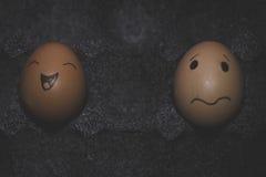 Positif et pessimiste Photo libre de droits