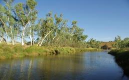 Position australienne de fleuve Photos libres de droits