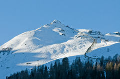 Position autrichienne d'Alpes d'hiver Photo stock