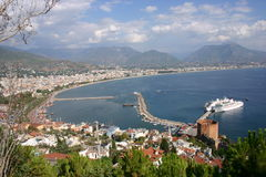 Position avantageuse d'Alanya Images stock