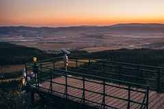 Position avantageuse dans les montagnes Photos libres de droits