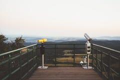 Position avantageuse dans les montagnes Images stock