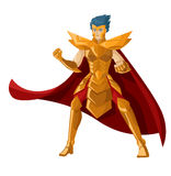 Position blindée de chevalier de héros d'anime puissant Image stock
