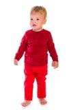 Position caucasienne de bébé images libres de droits