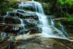 Water on the fallen. On position, Chaing Rai Thailand. This one location in county  and have a nice view Royalty Free Stock Photo
