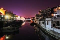 position chinoise de nuit à Jiangnan photographie stock