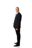 Position confiante d'homme d'affaires Photo stock