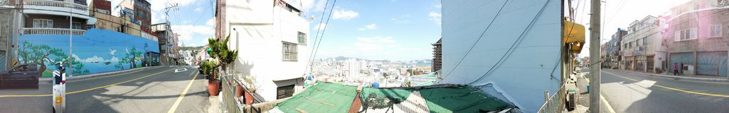 Position coréenne de colline Photo stock