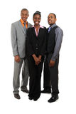 Position d'équipe d'affaires d'Afro-américain Photographie stock