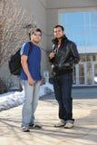 Position d'étudiants universitaires Image libre de droits