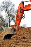 Position d'excavatrice. Images libres de droits