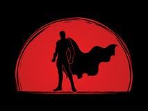 Position d'homme de superhéros illustration libre de droits