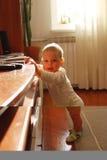 Position de bébé photographie stock