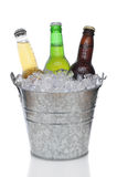 Position de bière avec des trois bières photo libre de droits