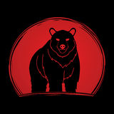 Position de Big Bear Illustration Libre de Droits