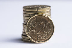 position de 20 cents Images libres de droits