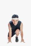Position de début de sprinters Images libres de droits