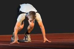 Position de départ dans l'athlétisme photographie stock libre de droits