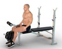 Position de début d'exercice de quadriceps Photo stock