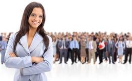 Position de femme d'affaires Image libre de droits