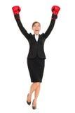 Position de femme d'affaires de réussite Images stock