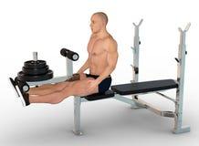 Position de fin d'exercice de quadriceps Image libre de droits