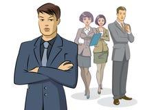 Position de groupe d'homme d'affaires Photo libre de droits