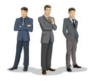 Position de groupe d'homme d'affaires Photos stock
