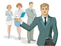 Position de groupe d'homme d'affaires Image libre de droits
