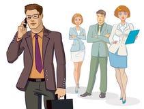 Position de groupe d'homme d'affaires Image stock