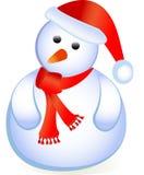 Position de Santa comme bonhomme de neige Image libre de droits