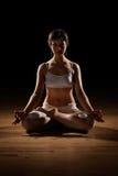Position de yoga de lotus Photographie stock libre de droits