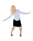 Position der Geschäftsfrau-Brandung Lizenzfreie Stockfotografie