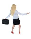 Position der Geschäftsfrau-Brandung Stockfotos