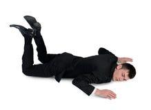 Position des Geschäftsmann-Schlafes Stockbild